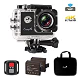 """Best Action Camera,CrazyFire 4K Ultra HD Sport Action Camera,16MP 170 Degree Angle Underwater Wifi Action Camera with 2.0"""" LCD,2pcs 900mAh Batteries and Accessory Kit"""