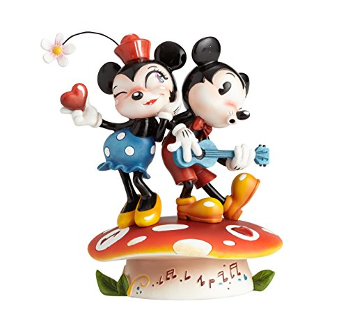 (The World of Miss Mindy Mickey Mouse and Minnie Mouse Stone Resin Figurine)