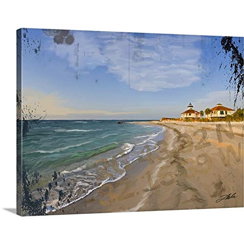 GREATBIGCANVAS Gallery-Wrapped Canvas Entitled Boca Grand Lighthouse by Tim Dardis 24
