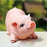 Cheap Agirlgle Animal Garden Statue – Cute Pig – Funny Outdoor Sculpture Resin Lawn Ornaments Decor – Best Indoor Outdoor Figurines for Patio Yard and House