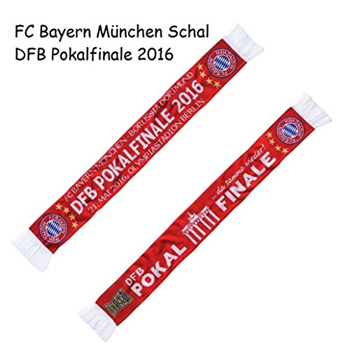 FC Bayern München Schal, Scarf, Fanschal zum DFB Pokalfinale 2016 FCB