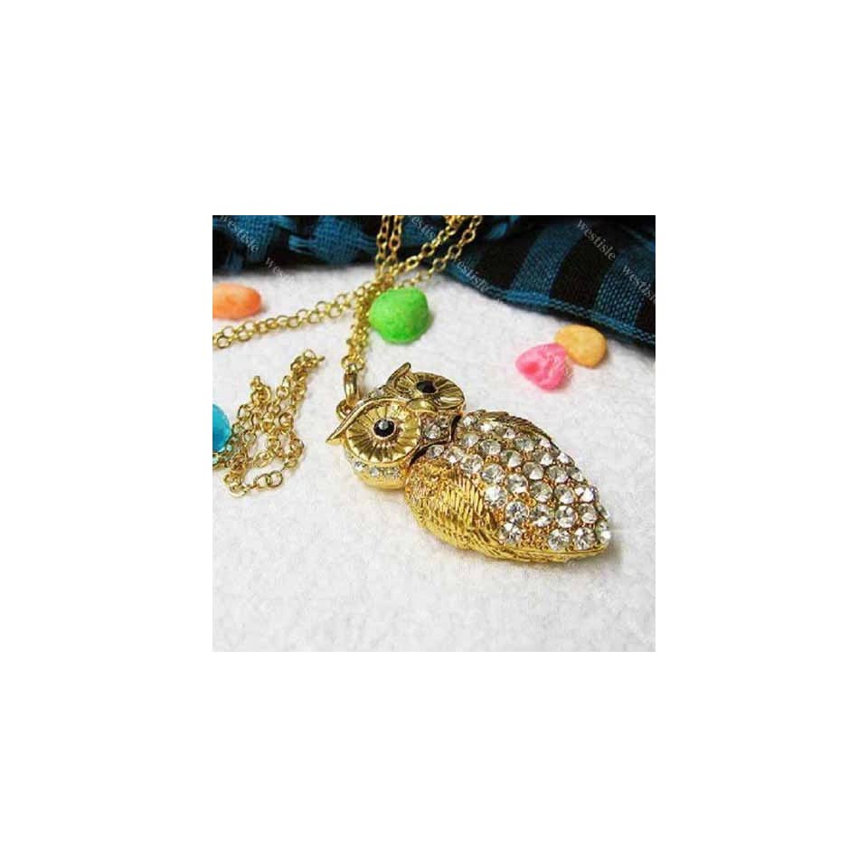 High Quality 16 GB Owl Crystal Jewelry USB Flash Memory Drive Necklace
