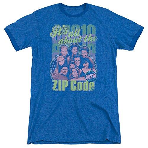 90210 - Zip Code Adult Ringer T-Shirt