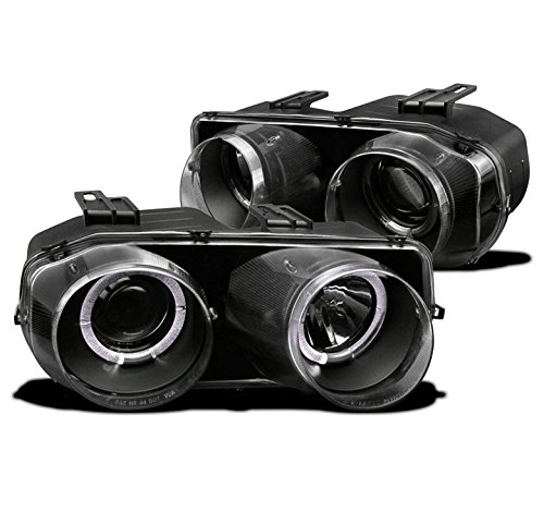- ZMAUTOPARTS Acura Integra Dual Halo Projector Headlight Lamp JDM Black LS RS Set