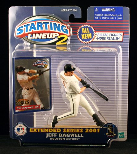 JEFF BAGWELL / HOUSTON ASTROS 2001 MLB Starting Lineup 2 EXTENDED SERIES Action Figure & Exclusive Trading (Jeff Bagwell Astros)