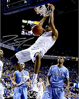 "Karl Towns Kentucky Wildcats Autographed 8"" x 10"" Dunking Photograph - Fanatics Authentic Certified - Autographed College Photos"
