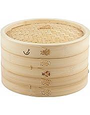 Davis & Waddell D4351 Asia One 2 Tier Bamboo Steamer, Natural