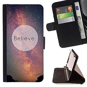 For LG Nexus 5 D820 D821 Case , Motivación Cielo Dios Extranjeros- la tarjeta de Crédito Slots PU Funda de cuero Monedero caso cubierta de piel