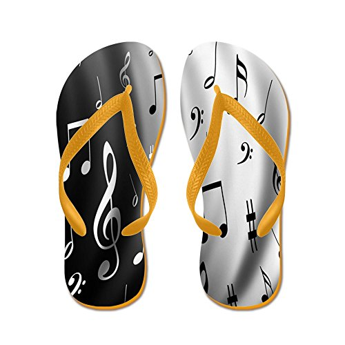 Note De Musique Cafepress - Tongs, Sandales String Drôle, Sandales De Plage Orange