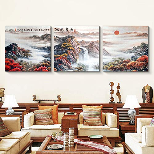 3 Panels Mountain Landscape for Living Room Painting Wall Bedroom Living House x3 Panels