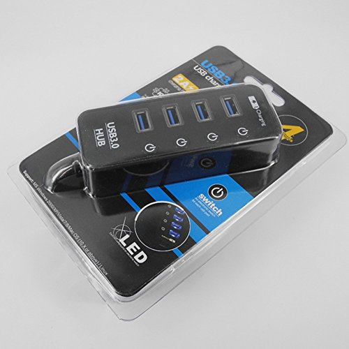 ETbotu USB3.0 HUB 3.0 4/7 Ports with Power Charging and Switch Multiple USB Splitter Panel by ETbotu (Image #5)