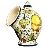 italian sponge - CERAMICHE D'ARTE PARRINI- Italian Ceramic Jar Salt Holder Sponge Hand Painted Decorated Fruit Made in ITALY Tuscan Art Pottery