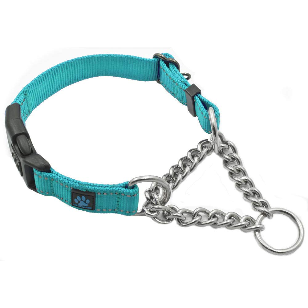 Max and Neo Stainless Steel Chain Martingale Collar We Donate a Collar to a Dog Rescue for Every Collar Sold