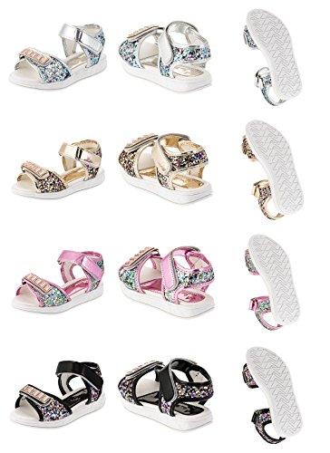 Tongxie Modische Kinder Mädchen Sandaletten in 4 Farben #183sw Schwarz