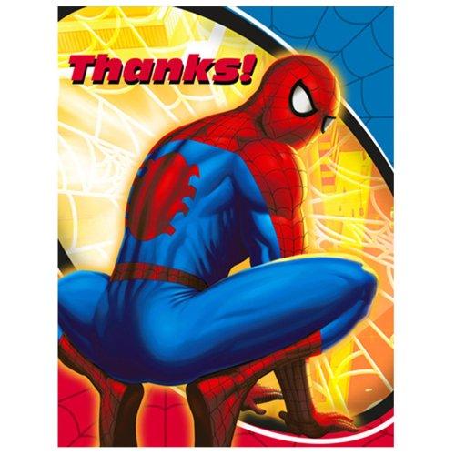 Hallmark Spider-Man Spider-Sense Thank-You Notes - 8 (Spider Sense Spider Man Costume)
