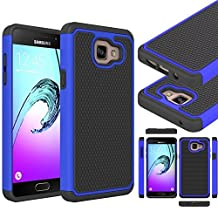 """Galaxy A5 2016 Case, Gefee® Full Body Hybrid Armor Protection Shockproof Defender Case Cover for Samsung Galaxy A5 (2016) 2nd Gen A510F 5.2"""" ( Blue)"""