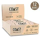 Coast Protein Cricket Energy Bar, Peanut Butter, 12 Count, 696g
