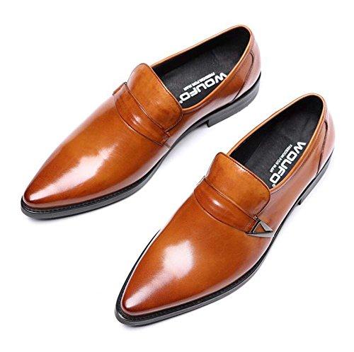 Prendas Negocios Vestir Diario Tamaño Puro para Vestir Color de de Pies Trabajo para Hombres 40 Cuero de Nuevo Zapatos Zapatos Amarillo nzFxwSvqw