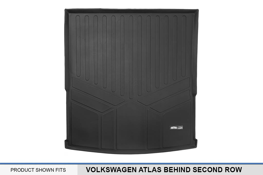 SMARTLINER All Weather Cargo Liner Floor Mat Behind 2nd Row Black for 2018 Volkswagen Atlas