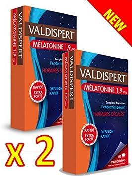 Valdispert - Comprimido bucodispersable de melatonina 1,9 mg - Pack de 2 x 40 Comprimidos: Amazon.es: Salud y cuidado personal