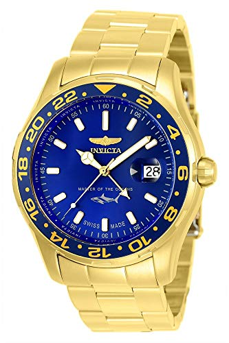 Invicta Men s Pro Diver Quartz Watch with Stainless-Steel Strap, Gold, 22 Model 25823