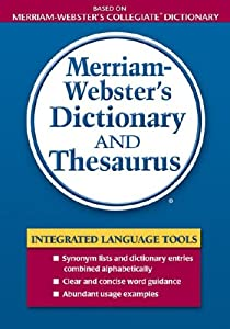 merriamwebsters dictionary and thesaurus new and used
