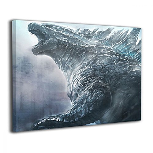 Little Monster Godzilla Thunder Stretched Painted On Canvas Home Decor Abstract Paintings Art for Kids Bedroom Living Room -