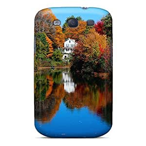 Tpu Phone Case With Fashionable Look For Galaxy S3 - Autumn Lake