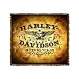Harley-Davidson Motorcycles Western Vintage Throw Blanket