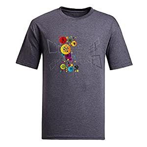 Custom Mens Cotton Short Sleeve Round Neck T-shirt,2014 Brazil FIFA World Cup gray by icecream design