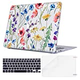 TeenGrow MacBook Air 13 Inch Case, Rubber Coated Plastic Hard Clear Case Shell Only Compatible MacBook Air 13' (Model: A1369/A1466), Blossom Floral