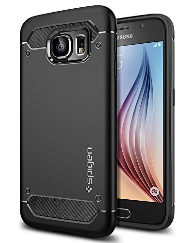 Spigen Rugged Armor Designed for Galaxy S6 Case (2015) - (Best Galaxy S6 Cases)