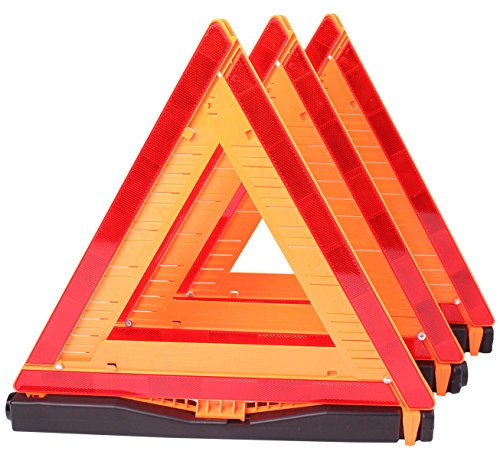 Cartman Warning Triangle DOT Approved 3PK Identical To United States FMVSS 571125 Reflective Warning Road Safety Triangle Kit