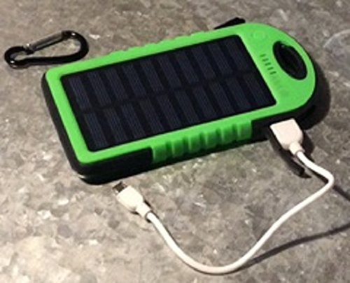 Solar Charger, AAA IE 5000mAh Portable Solar Power Bank Waterproof/Dustproof/Shockproof Dual USB Battery Bank for cell phones, Windows, iPhone, Android and Samsung Phones, GPS devices & more (Green) by AAA IE