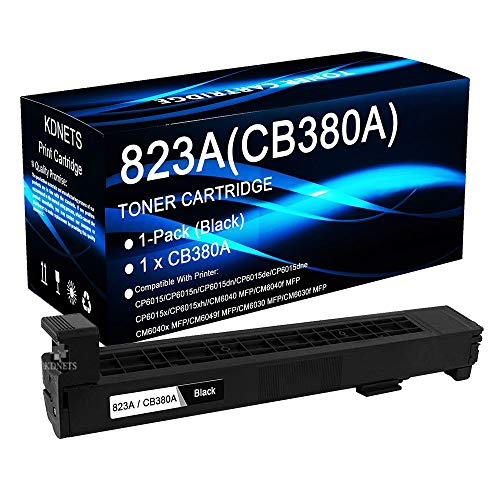 (1-Pack (Black) Compatible Color Laserjet CM6040 CM6040f CM6040x CM6049f MFP Printer Toner Cartridge High Yield Replacement for HP CB380A 823A Laser Toner Cartridge, by KDNETS )