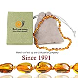 Best Teething Remedies - Premium Amber Teething Necklace for Baby, 100% Organic Review