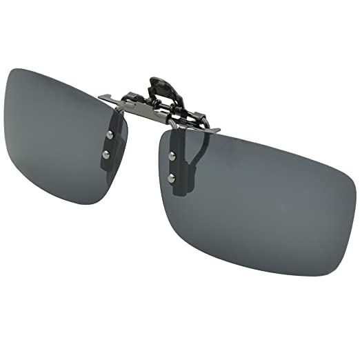 f4827de0e09 Besgoods Polarized Clip-on Flip up Metal Clip Sunglasses Lenses Glasses  Unisex Driving Fishing Outdoor