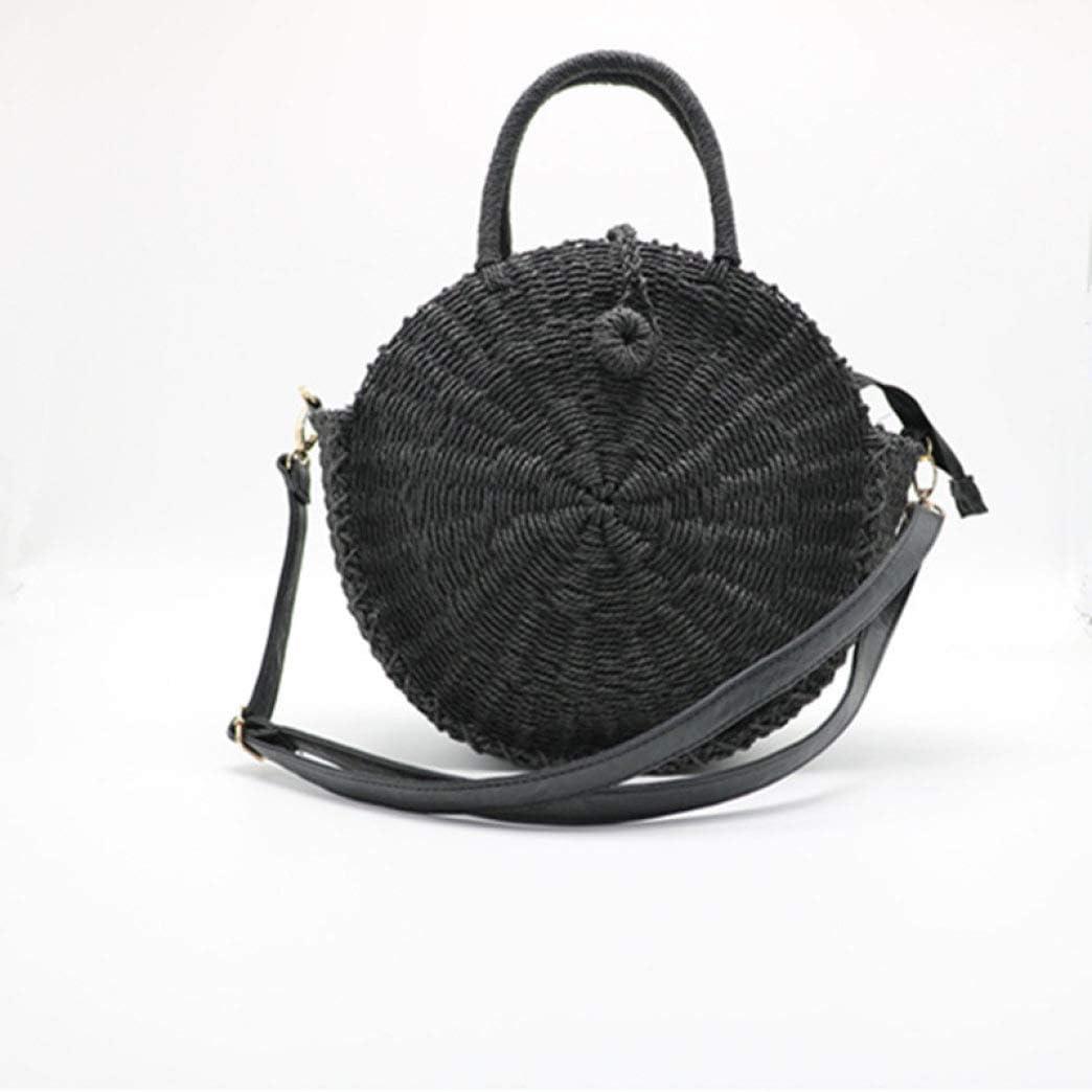 Straw Bag for Women Rattan Handmade Tote Cross-body Handbags for Beach Travel and Everyday Use