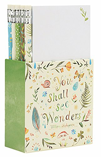 (Katie Daisy Notes & Pencils Desk Set, Wonders)