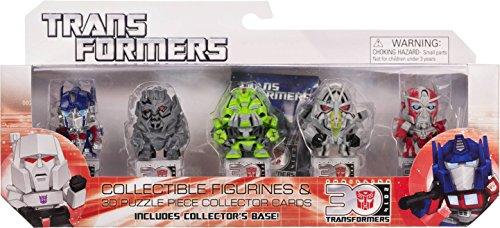 "Optimus Prime, Megatron, Ratchet, Starscream, Sentinel Prime ~ 1.25"" Mini-Figures: Transformers 30th Anniversary Series [Transformers The Movie Set]"