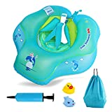 oneisall Baby Inflatable Pool Float Ring, BabySwimmingRings PoolFloats Toys for 6-30 Months Old, Children Waist Float Ring Swim Boat, Size L