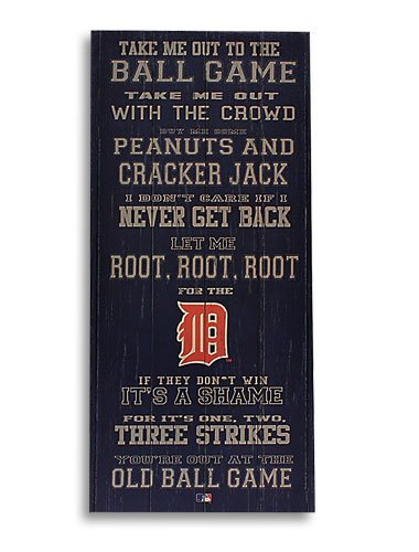 Artissimo MLB Detroit Tigers 26x12 Take me Out to The Ball Game