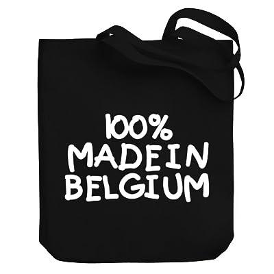 Teeburon 100 MADE IN Belgium Canvas Tote Bag
