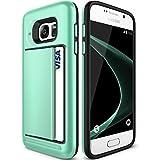 Galaxy S6 Case, KAMII Glide Pocket Stash Galaxy S6 Card Case For Samsung Galaxy S6 [Shock Absorbent] with Cushion [Dual Layer Design] [Heavy Duty] [Wallet] Slot Holder (Aqua)