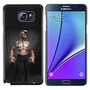 LECELL--Funda protectora / Cubierta / Piel For Samsung Galaxy Note 5 5th N9200 -- marinero abs sexy man cgi Capitán del niño --