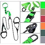 eaglefit® Sling Trainer mit Umlenkrolle Trainingsposter, Schlingentrainer
