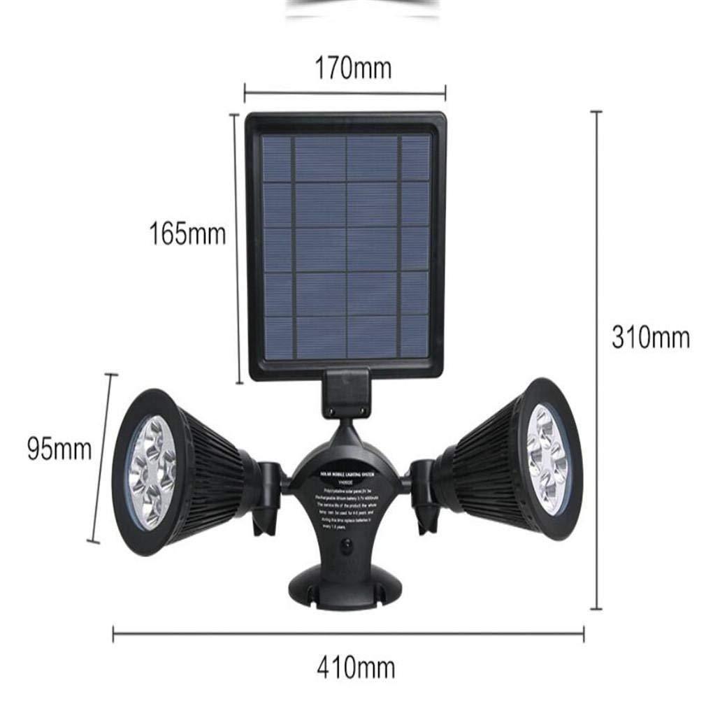 HWDJ003 Luz LED para Exteriores \ Proyector Solar de Cabezal ...