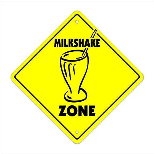 Milkshake Crossing Sign Zone Xing   Indoor/Outdoor   20