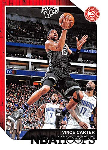 Vince Carter Basketball (2018-19 NBA Hoops Basketball #77 Vince Carter Atlanta Hawks Official Trading Card made by Panini)