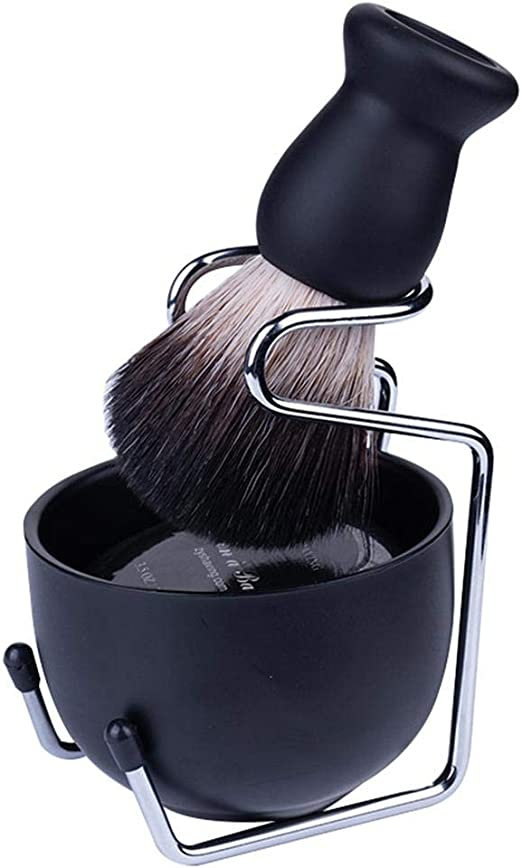 Singa-Z Juego de Afeitado portátil de Alta Gama para Hombre, Cepillo de Pelo de tejón, Soporte para afeitadora, Bol para jabón, Juego de jabón de Afeitar: Amazon.es: Hogar